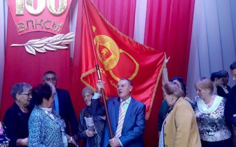 Эстафета Знамени 100-летия Ленинского комсомола: из Старожилово в Пронск