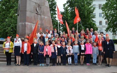 19 мая в Рязани прошла торжественная линейка, посвящённая 96-летию Пионерской организации