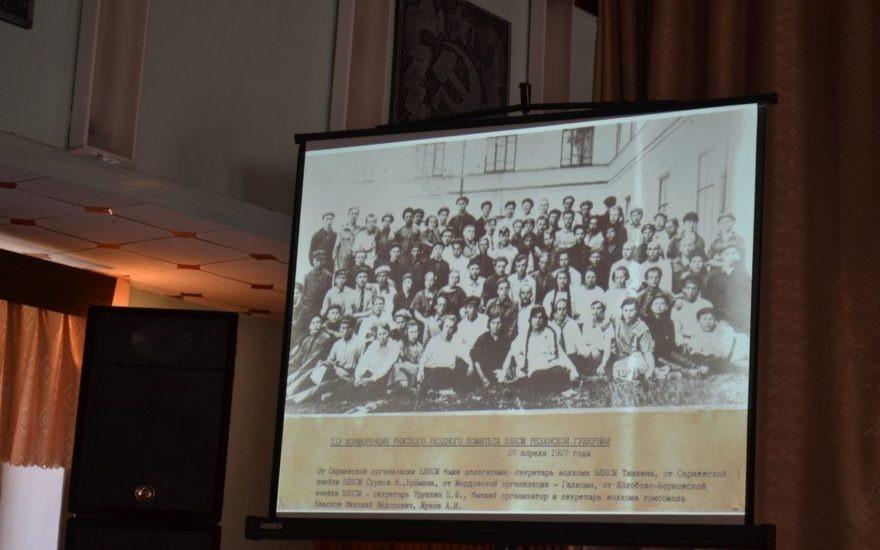 Эстафета Знамени 100-летия Ленинского комсомола: из Шацка в Сараи